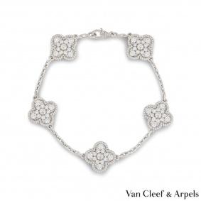 Van Cleef & Arpels Diamond Vintage Alhambra Bracelet VCARA41500